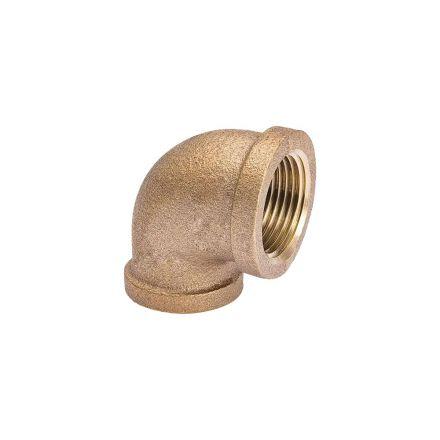 Interstate Pneumatics 5317015 3/4 x 1/2 90 Degree Brass Elbow