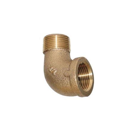 Interstate Pneumatics 5317043 1 Inch 90 Degree Brass Street Elbow