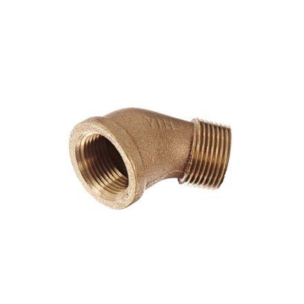 Interstate Pneumatics 5317054 1-1/2 Inch 45 Degree Brass Street Elbow