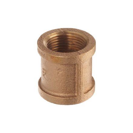 Interstate Pneumatics 5318024 1-1/2 Inch Brass Coupling