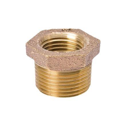 Interstate Pneumatics 5318074 1-1/2 Inch x 1/2 Inch Brass Hex Bushing