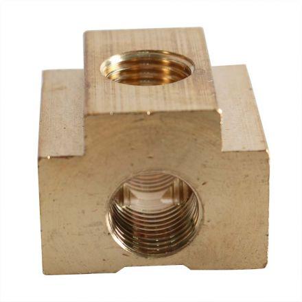 Interstate Pneumatics CPT44-5 Five-Way Brass Compressor Fitting 1/4 Inch FPT (5)