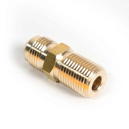 Interstate Pneumatics FA615G 5/8 Inch-18 UNF Flared x M16 x 1.5 Brass Adapter For Gas Regulator