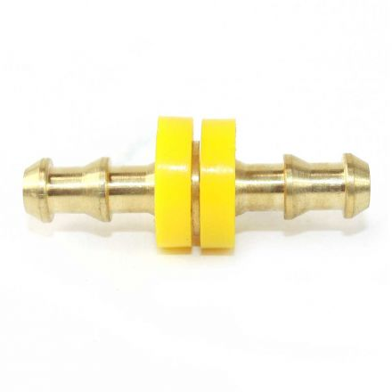Interstate Pneumatics FL344 Easy Lock Brass Hose Fittings, Connectors, 1/4 Inch Hose Barb Splicer