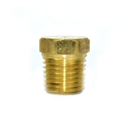 Interstate Pneumatics FPP41B Brass Hex Plug 1/4 Inch NPT Male