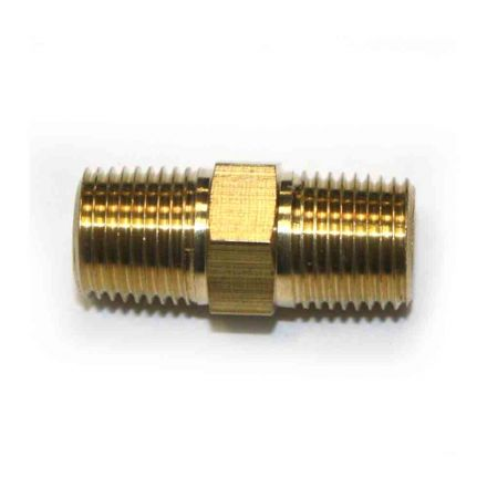 Interstate Pneumatics FA212 1/8 Inch NPT Male Brass Hex Nipple