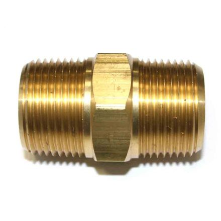 Interstate Pneumatics FA919-9 1 Inch NPT Male Brass Hex Nipple