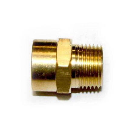 Interstate Pneumatics FB606 3/8 Inch NPT Male x 3/8 Inch NPT Female Brass Hex Adapter