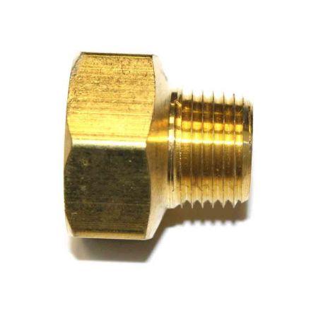 Interstate Pneumatics FB809 1/2 Inch NPT Male x 3/4 Inch NPT Female Brass Hex Bushing