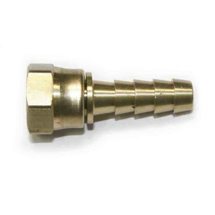 "Interstate Pneumatics FFS145 Brass Hose Fitting, Connector, 5/16"" Swivel Barb x 1/4"" Female NPT End"