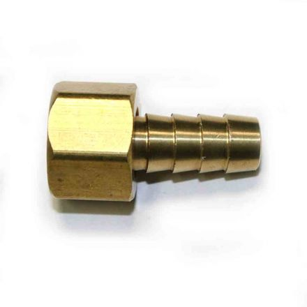 Interstate Pneumatics FFS166 Brass Hose Fitting, Connector, 3/8 Inch Swivel Barb x 3/8 Inch Female NPT End