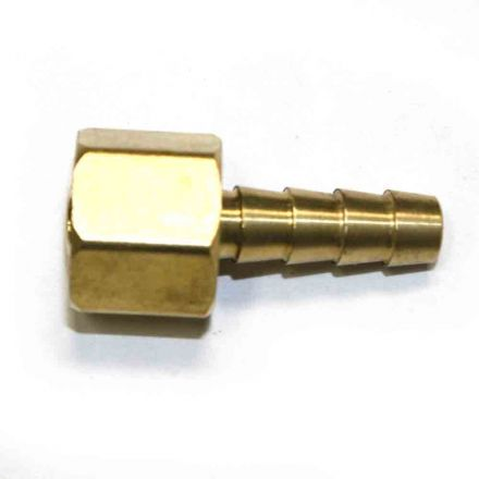 Interstate Pneumatics FFS244 Brass Hose Fitting, Connector, 1/4 Inch Swivel Barb x 1/4 Inch Female NPT End - 2 Piece