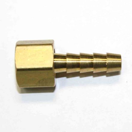 Interstate Pneumatics FFS245 Brass Hose Fitting, Connector, 1/4 Inch Swivel Barb x 5/16 Inch Female NPT End - 2 Piece