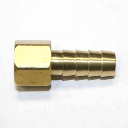 Interstate Pneumatics FFS246 Brass Hose Fitting, Connector, 3/8 Inch Swivel Barb x 1/4 Inch Female NPT End - 2 Piece