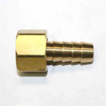 Interstate Pneumatics FFS266 Brass Hose Fitting, Connector, 3/8 Inch Swivel Barb x 3/8 Inch Female NPT End - 2 Piece