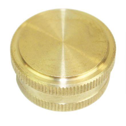 Interstate Pneumatics FGC00 3/4 Inch Garden Hose Cap - Die Cast Brass