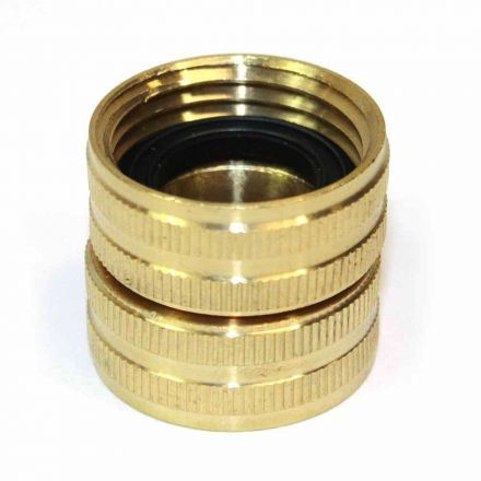 Interstate Pneumatics FGF00S 3/4 Inch GHT Female x 3/4 Inch GHT Female Water Hose Fitting - Swivel