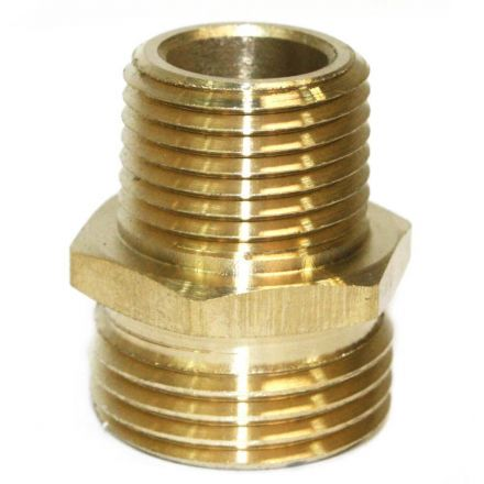 Interstate Pneumatics FGM018 3/4 Inch GHT Male x 1/2 Inch Male NPT Hose Fitting