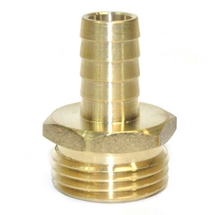 Interstate Pneumatics FGM308 3/4 Inch GHT Male x 1/2 Inch Barb Hose Fitting