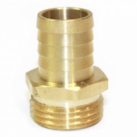 Interstate Pneumatics FGM312 3/4 Inch GHT Male x 3/4 Inch Barb Hose Fitting