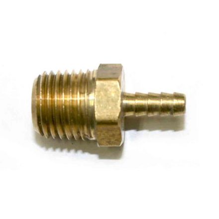 Interstate Pneumatics FM42 Brass Hose Barb Fitting, Connector, 1/8 Inch Barb X 1/4 Inch NPT Male End