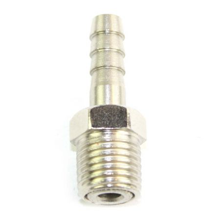 Interstate Pneumatics FMS144S 1/4 Inch MPT x 1/4 Inch Male Swivel Barb Connector - Steel