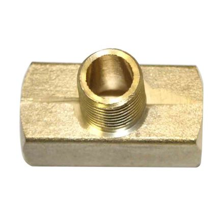 Interstate Pneumatics FP44TB Brass Branch Tee Fitting 1/4 Inch NPT Female