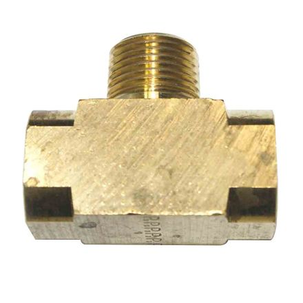 Interstate Pneumatics FP66TB Brass Branch Tee Fitting 3/8 Inch NPT Female