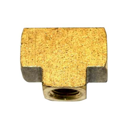Interstate Pneumatics FP88T Brass Tee Fitting 1/2 Inch NPT Female
