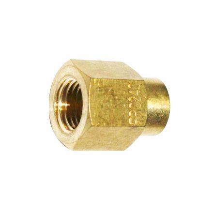 Interstate Pneumatics FPC240 Brass Female Coupling Adapter 1/8 Inch X 1/4 Inch NPT Female