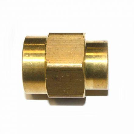 Interstate Pneumatics FPC680 Brass Female Coupling Adapter 3/8 Inch X 1/2 Inch NPT Female