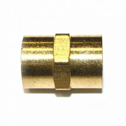 Interstate Pneumatics FPC880 Brass Female Coupling Adapter 1/2 Inch X 1/2 Inch NPT Female