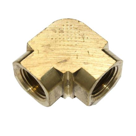 Interstate Pneumatics FPE66 Brass Elbow Fitting 3/8 Inch NPT Female