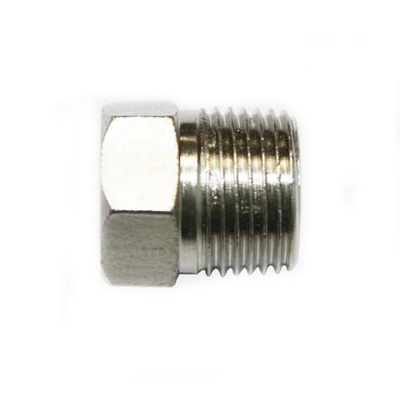 "Interstate Pneumatics FPP61S Steel Hex End-Plug 3/8"" NPT Male"