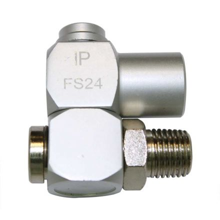 """Interstate Pneumatics FS24 1/4"""" FPT x 1/4"""" MPT Universal Swivel Fitting"""
