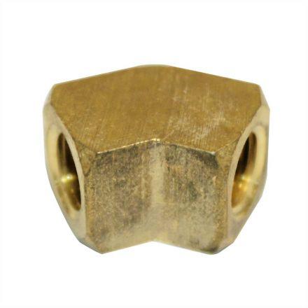 Interstate Pneumatics FST44EAF Brass Street Pipe Elbow Fitting 1/4 Inch NPT - 45 Degree