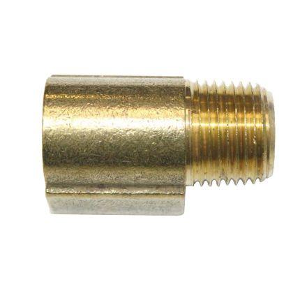 Interstate Pneumatics FST66E Brass Street Pipe Elbow Fitting 3/8 Inch NPT - 90 Degree