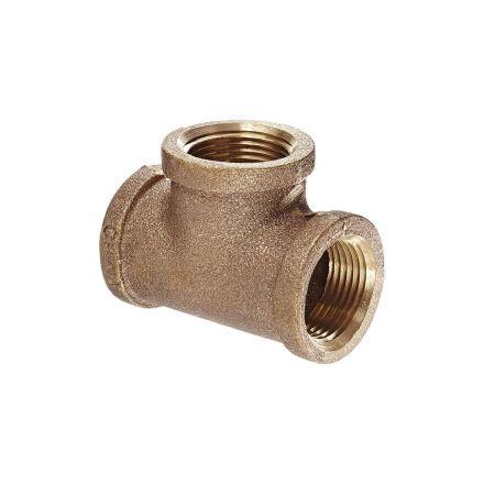 Interstate Pneumatics 5317068 1-1/4 Inch Brass Tee