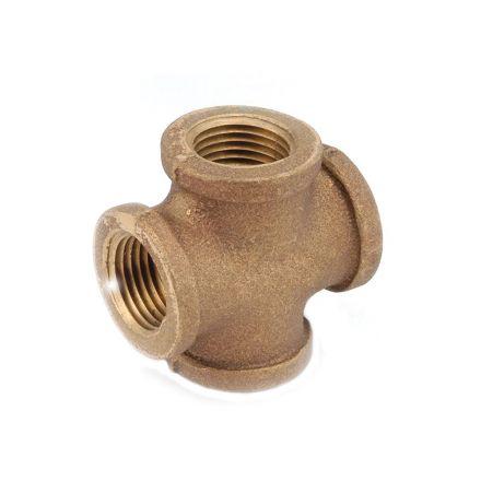 Interstate Pneumatics 5318002 1/8 Inch Brass Tee