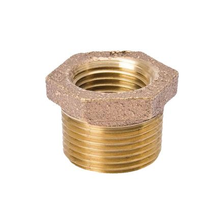 Interstate Pneumatics 5318074 1-1/2 Inch x 1/2 Inch Brass Hex Bushing