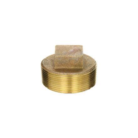 Interstate Pneumatics 5318096 1-1/2 Inch Brass Plug