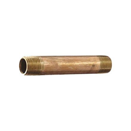 Interstate Pneumatics 5319081 1/4 Inch x 6 Inch Brass Nipple