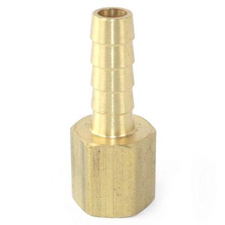 Interstate Pneumatics FF45 Brass Hose Fitting, Connector, 5/16 Inch Barb x 1/4 Inch Female NPT End
