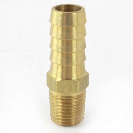 Interstate Pneumatics FM48 Brass Hose Barb Fitting, Connector, 1/2 Inch Barb X 1/4 Inch NPT Male End