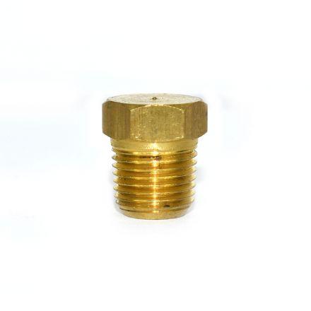 Interstate Pneumatics FPP21B Brass Hex Plug 1/8 Inch NPT Male