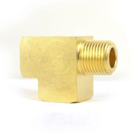 Interstate Pneumatics FST22RT Brass Street Pipe Tee Fitting 1/8 Inch Female NPT x 1/8 Inch Male NPT x 1/8 Inch Female NPT