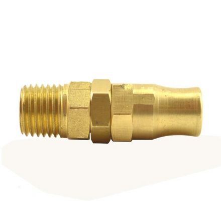 Interstate Pneumatics HRPZ24-1 1/4 Inch Reusable Swivel Hose End Fitting for 1/4 Inch NPT Polyurethane Hose (HU14 Series)