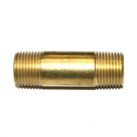 Interstate Pneumatics FA616LN 3/8 Inch NPT Male Brass Nipple - 2 Inch Extension