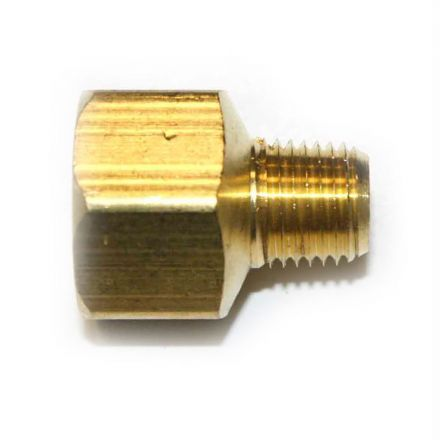 Interstate Pneumatics FB408 1/4 Inch NPT Male x 1/2 Inch NPT Female Brass Hex Bushing Adapter