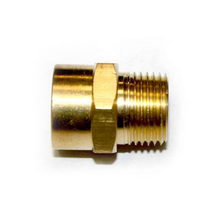Interstate Pneumatics FB606 3/8 Inch NPT Male x 3/8 Inch NPT Female Brass Hex Adapter
